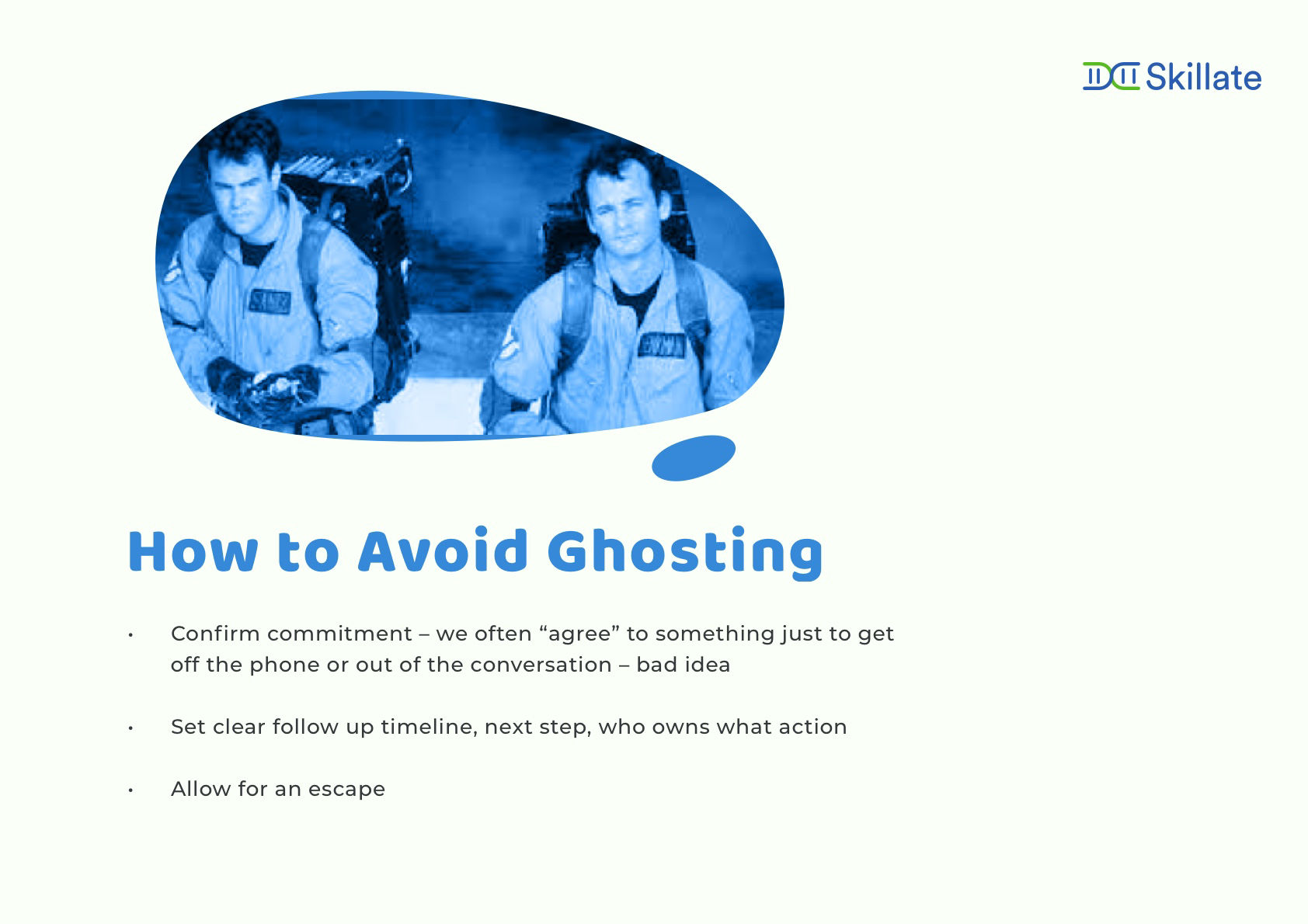 tips to avoid ghosting
